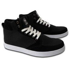 Distro Bandung V 105 Sepatu Boot Sneakers dan Casual Pria - Hitam