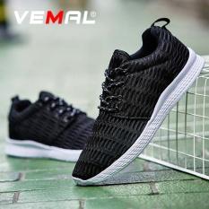 VEMAL 2017 Baru Sepatu Lari Pria dan Wanita Bernapas Sneakers Lace-up GRATIS RUN Sports Kebugaran Ukuran Besar 35 -48 Hitam-Intl