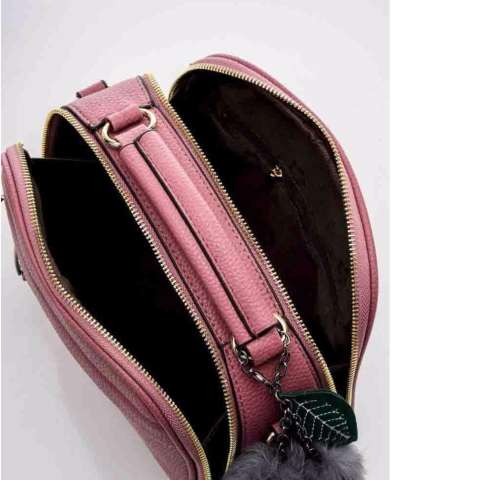Vicria Tas Branded Wanita With Pompom - High Quality PU Leather Korean Elegant Bag Style -