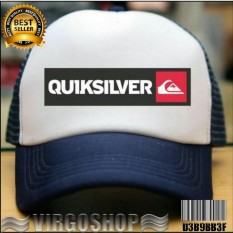 Virgoshop TOPI TRUCKER WHITE DONGKER QUIKSILVER Best Quality