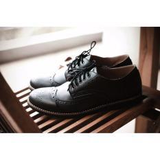 Volker Footware Sepatu Casual/Formal PortgasBlack Pria - Hitam