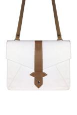 VONA Kin (Putih Cokelat) - Tas Wanita Selempang Sling Bag Envelope Clutch Mini Satchel Messeger Crossbody Kecil