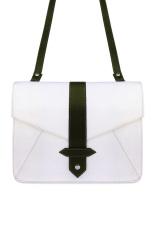 VONA Kin (Putih Hitam) - Tas Wanita Selempang Sling Bag Envelope Clutch Mini Satchel Messeger Crossbody Kecil