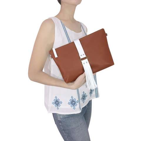 VONA Lilian (Cokelat) - New Arrival Tas Bahu Selempang Clutch Crossbody  Tassel Rumbai Shoulder a27e77001d