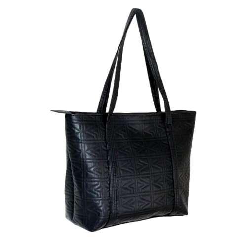 WAN Tas Wanita Women Fashion PU Tote Bag Leather Motif Kotak-Kotak Handbags Shoulder Bags