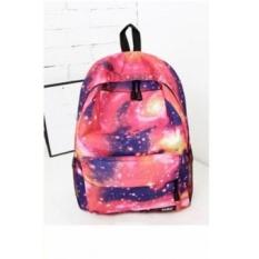 Women Girls Fashion Spiral Galaxy Backpack School Bookbag (EXPORT)- Intl