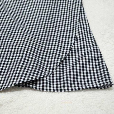 Wanita Off Bahu Baju Kemeja Striped Plaid Deep V Leher Tali Pinggang DROP Bahu Pesta Gaun Mini Hitam-Intl 5