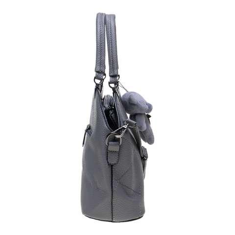 Women's High Quality Handbag with Bear HBBEAR0888 GRY - Tas fashion Wanita