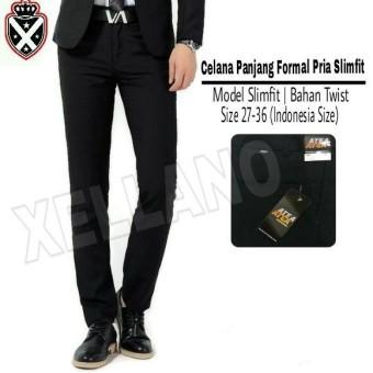 gudang fashion celana bahan wanita untuk kerja hitam
