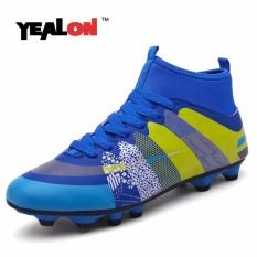 YEALON Superfly Football Boots Chuteira Futebol Soccer Sepatu dengan Kaus Kaki Pria Sepak Bola Cleat Superfly Tinggi Pergelangan Kaki Sneakers-Intl