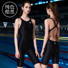 Yingfa Baju Renang Wanita Anti Air Warna Hitam Solid