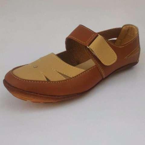 Yutaka Sepatu Wanita Slip On / Flat Shoes Krem Tan