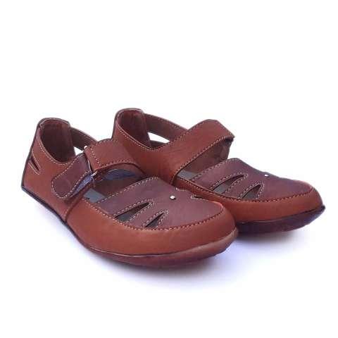 Yutaka sepatu flat - Cokelat