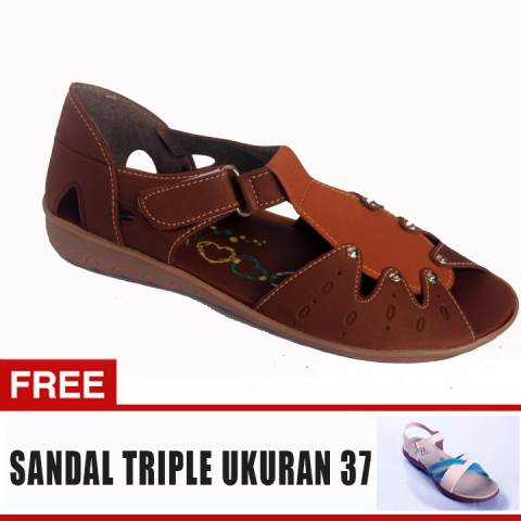 ... Yutaka Sepatu Wanita Jm07 Moka Tan Gratis Sepatu Triple Ukuran 37