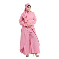 Zada Set Atasan Celana dan Hijab - Salem