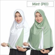 Zannah Hijab Jilbab 2 Warna Instan Bolak Balik Pricilla Original