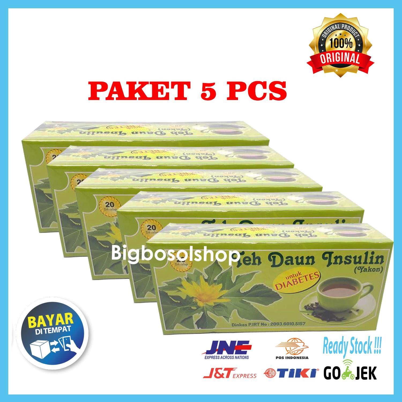 [ Paket 5 pcs ] Teh Celup Daun Insulin Herbal Yakon - Untuk Diabetes - isi