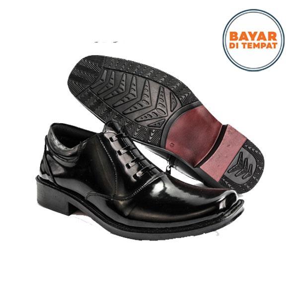 JAFERI Sepatu Pdh Polri Pdh 02 Reseleting Sintetis - Hitam - Sepatu Pdh Tni  - Sepatu e1620d1e09