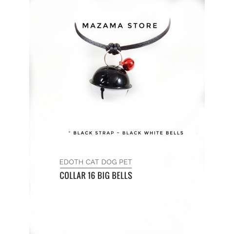 1 pc EDOTH Cat Dog Pet Collar 16 Big Bells Black & White Bells Colors / Kalung Kucing Anjing / Aksesoris Kucing Anjing / Aksesoris Hewan / Kucing / Anjing ...