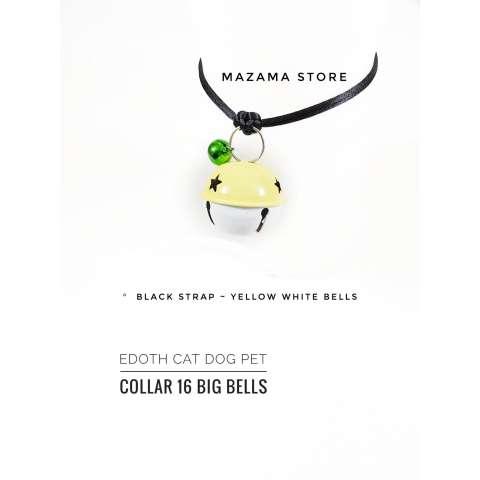 1 pc EDOTH Cat Dog Pet Collar 16 Big Bells Yellow & White Bells Colors / Kalung Kucing / Kalung Anjing / Aksesoris Kucing Anjing / Aksesoris Hewan / Kucing ...