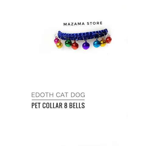 1 Pcs EDOTH Cat Dog Pet Collar 8 Bells Blue Ocean Colors / Kalung Kucing /