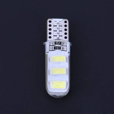 10 Pcs T10 5630 W5W Silica Gel 6MSD LED Mobil Interior Light Reading Bulbs (Putih