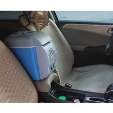 12 V 7.5L Portable Mini Pemanasan dan Pendinginan Kendaraan Mobil Kulkas Freezer Kulkas Panas dan Dingin Double Digunakan untuk Mobil -Intl