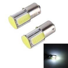 2 Pcs 1156 5 W 6000 K 350lm 4 COB LED CANBUS Lampu Rem Mobil Tail Light Bulb, DC 12 V (Lampu Putih)-Intl
