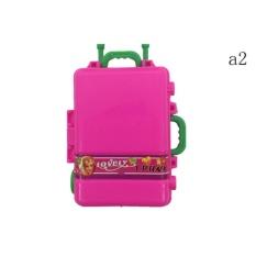 2 Pcs Cute Travel Koper Bagasi Batang untuk Girl Doll House Hadiah A2-Intl
