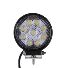 27 W 9 LED Round LED Work Spot Beam Light Lampu Off Road High Power ATV Jeep 30 Derajat Spot Light-Intl