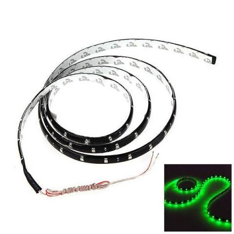 2 Pcs 120 Cm 60SMD Mobil Strip Dibawah Ringan Neon Footwell Fleksibel Anti-Air-Hijau-Intl-intl 2