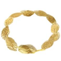 2 Pcs Dewi Romawi Yunani Emas Toga Daun Laurel Wreath Kepala Band Pesta Busana Kostum-Intl