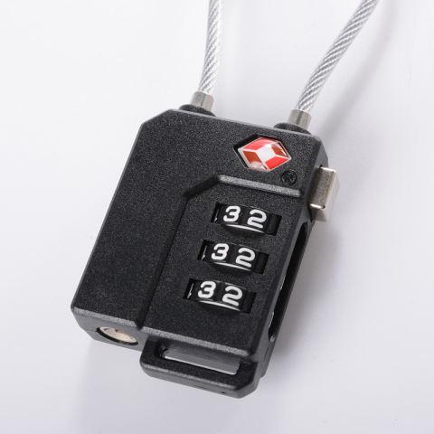 2 Pcs Keamanan TSA Kombinasi Tas Koper Bagasi Bagasi Kode Kunci Gembok 3 .