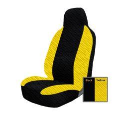 Adepe sarung jok mobil Agya&Ayla ( Black - Yellow )