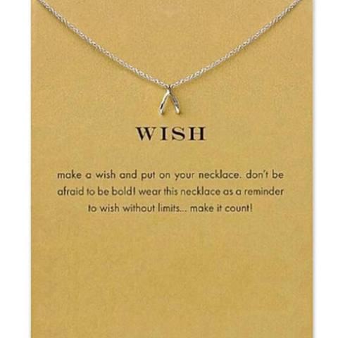 Home; Ai Home Fashion Wanita Wishbone Pendant Rantai Klavikula Kalung Perhiasan-Internasional