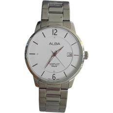 Alba 161026 Analog Model Couple Jam Tangan Pria - Silver