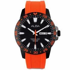 Alba Sport - Jam Tangan Pria - Orange - Tali Karet - AT2033