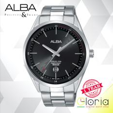 ALBA Jam Tanga Pria AS9D33X1 Quartz Movement Stainless Steel Strap -  Black