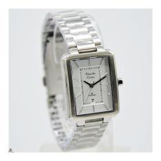 Alexandre Christie 8555L Jam Tangan Wanita / Cewek Stainless Steel Silver