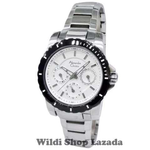 Alexandre Christie AC6141L Jam Tangan Wanita Stainless Steel Silver Putih
