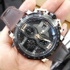 Alexandre Christie AC6373MCE - Jam Tangan Casual Pria Murah - Leather Strap - Chrono Aktif