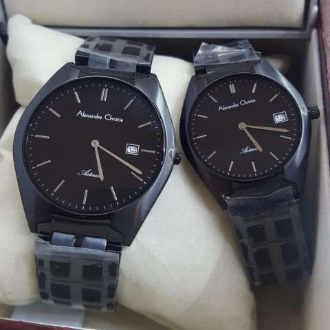 Alexandre Christie AC8521ML Jam Tangan Couple Stainless Steel Hitam