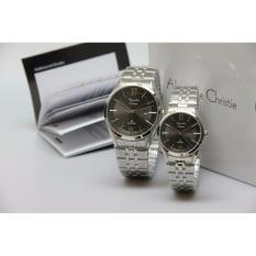 Alexandre Christie - Jam Tangan Couple - Silver or Black - Stainless Steel Strap - AC8289 - Limited Edition