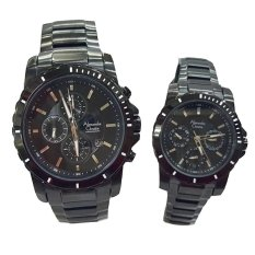Alexandre Christie - Jam Tangan Couple - Stainless Steel - AC 6141 Black Couple