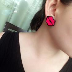 ALTIN - ANTING KOREA TUSUK LUCU MOTIF PATCH KARTUN duck / lips
