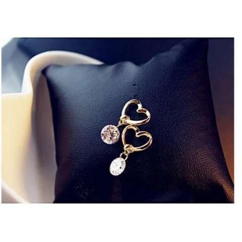 Amefurashi Anting Korea Love Kristal Stud Earring Beauty