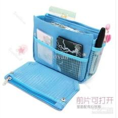 Anabelle Bag In Bag Dual Zipper Tas Kosmetik Dompet Travel Organizer Best Produk