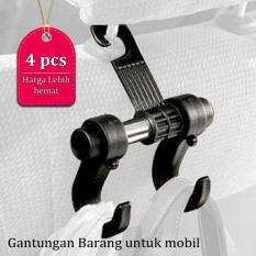Anabelle Gantungan Barang Portable Untuk Mobil Car Hanger Organizer Holder 1 Set Isi 4 Gantungan Barang Gantungan Mobil 1 Set Dapat 4