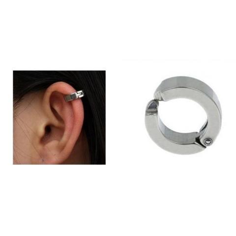 Anneui - BP0013 (anting jepit pria dan wanita, tanpa tindik, bahan titanium)