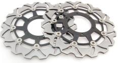Areyourshop Front Brake Disc Rotor untuk HONDA CBR 600 F4i SPORT CB CBF 1000 VTX 1800 C Hitam-Intl